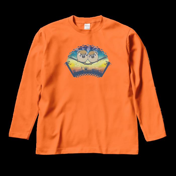 ロングスリーブTシャツ - M - オレンジ