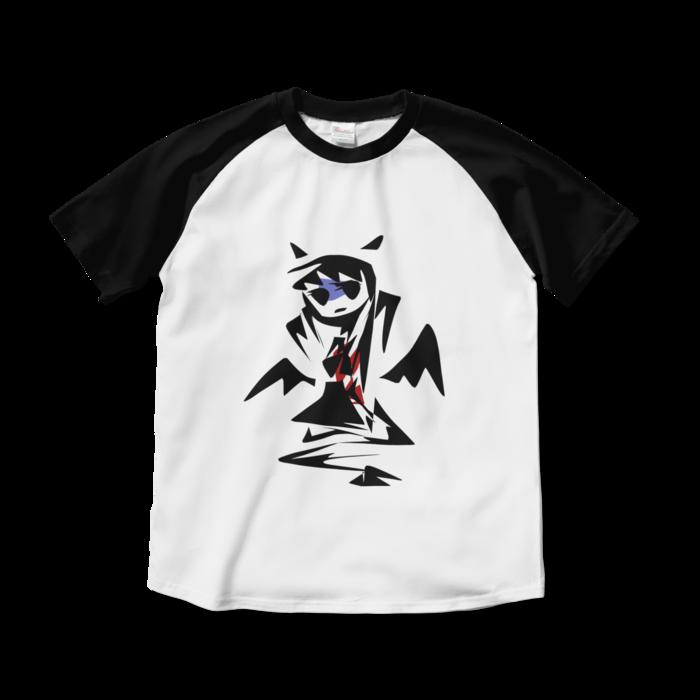 ラグランTシャツ - M - ホワイト×ブラック