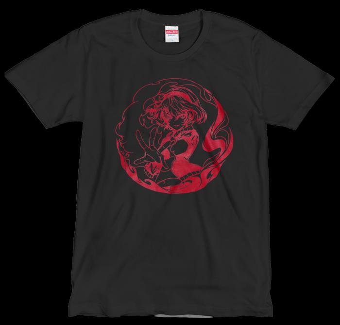 Tシャツ(シルクスクリーン印刷) - L - 赤色
