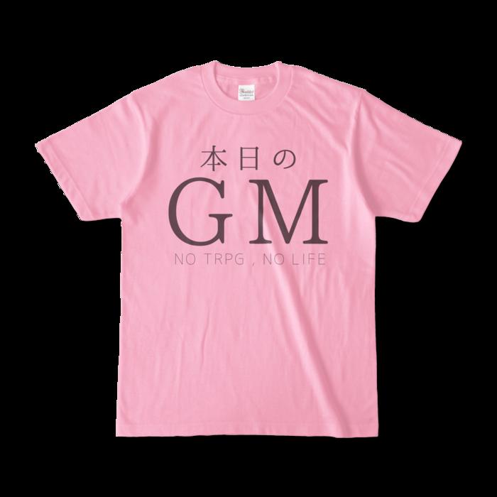 カラーTシャツ - S - ピーチ