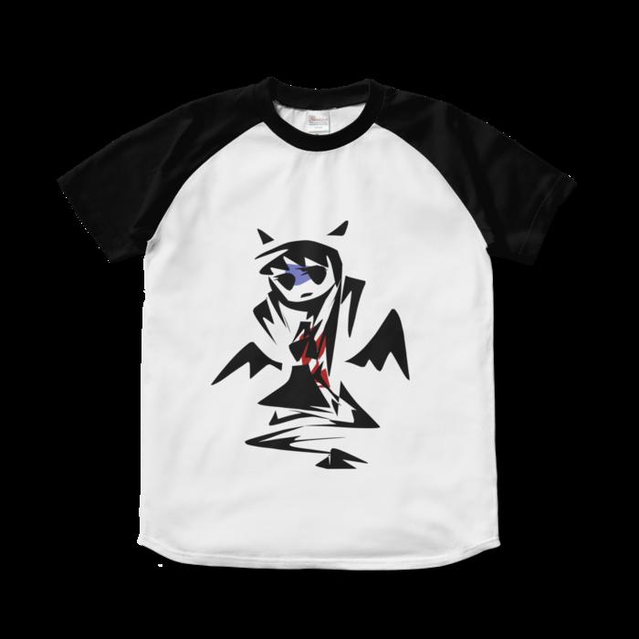 ラグランTシャツ - S - ホワイト×ブラック