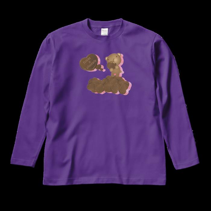 ロングスリーブTシャツ - M - パープル