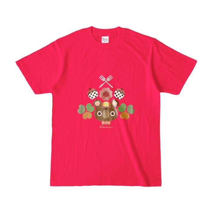 カラーTシャツ(濃色) - S - 正面 - ホットピンク