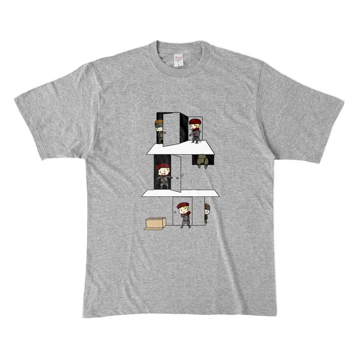 カラーTシャツ(濃色) - XL - 杢グレー