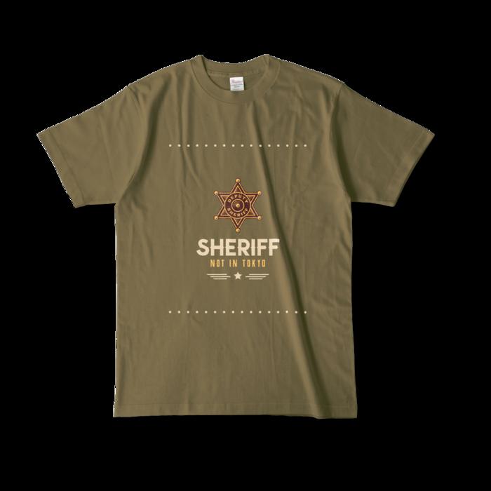 カラーTシャツ - L - オリーブ (濃色)