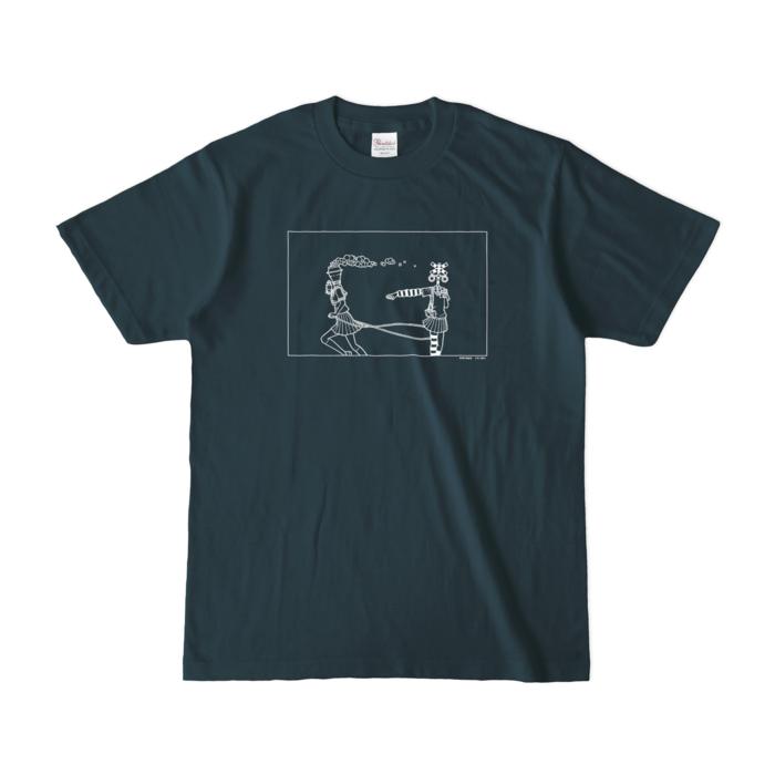 カラーTシャツ(濃色) - S - デニム