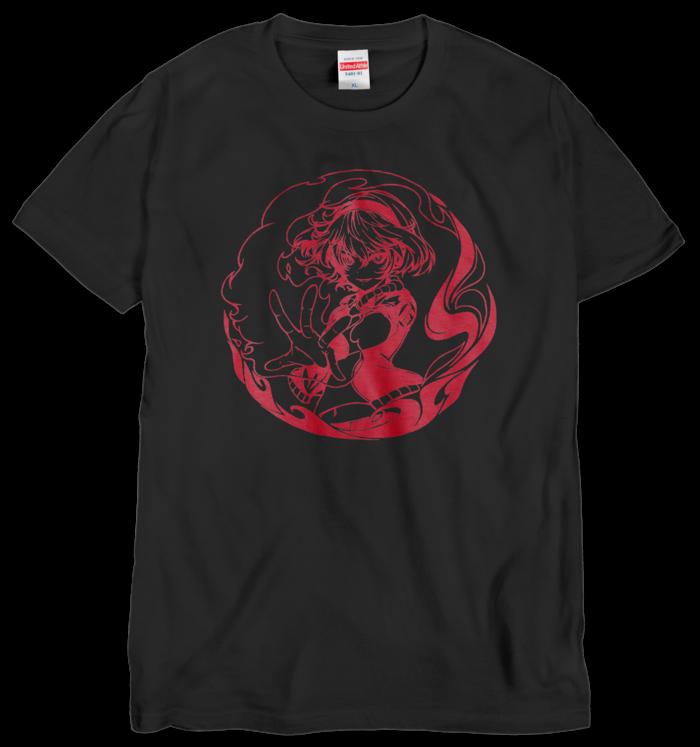 Tシャツ(シルクスクリーン印刷) - XL - 赤色