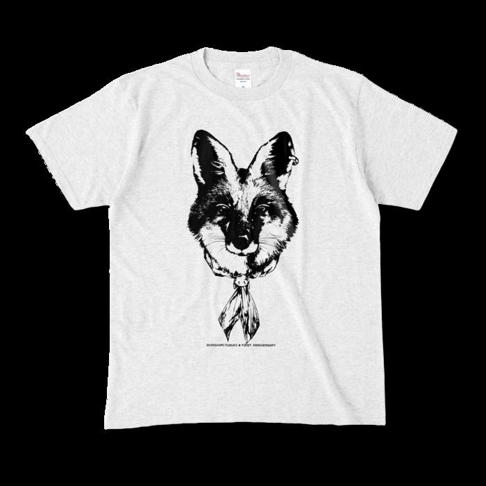 カラーTシャツ(淡色) - M - 正面 - アッシュ