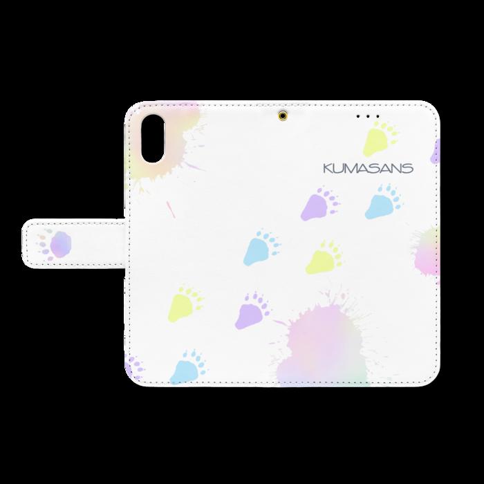 手帳型iPhoneケース - iPhone XS / X - ストラップ穴 あり(白)