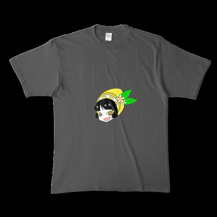 カラーTシャツ(濃色) - XL - 両面 - チャコール