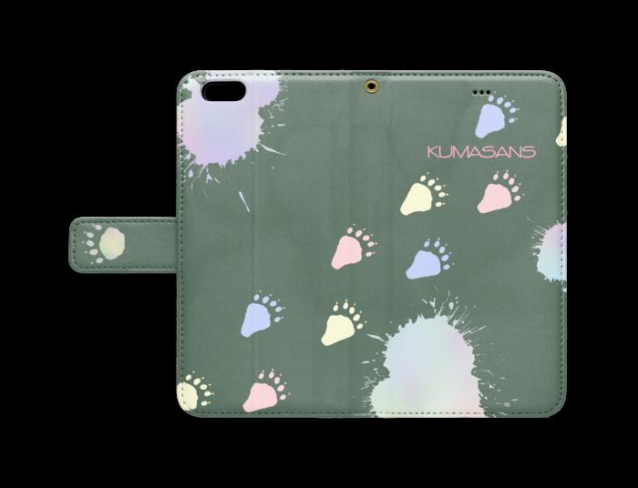 手帳型iPhoneケース - iPhone 6 Plus / 6s Plus - ストラップ穴 あり(緑)