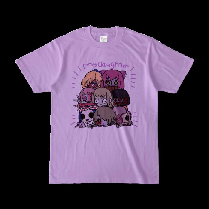 カラーTシャツ(淡色) - S - 正面 - ライトパープル