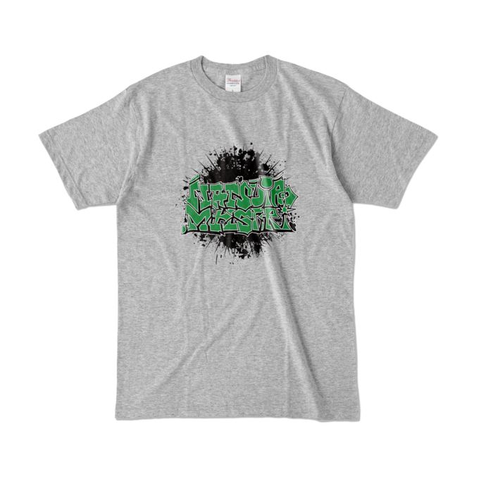 カラーTシャツ - L - 杢グレー (濃色)