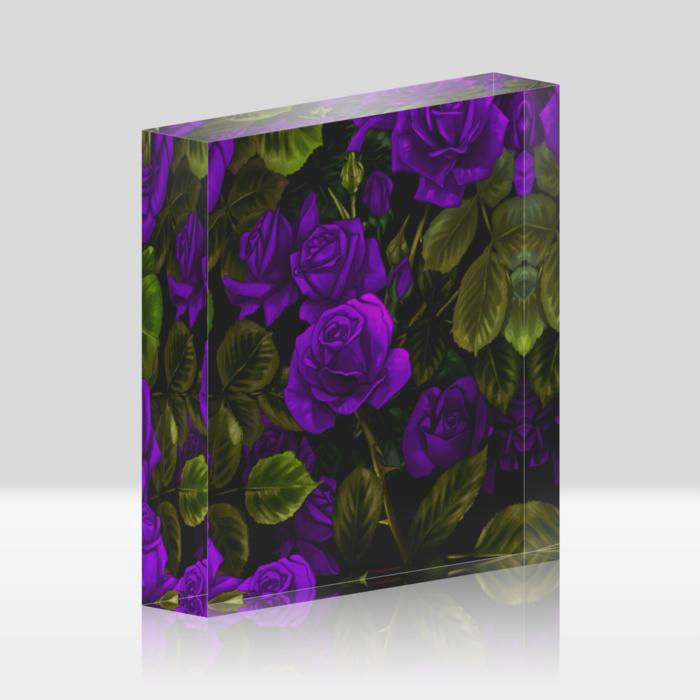 紫薔薇 (100x100mm)