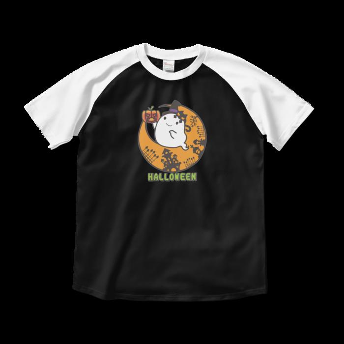 ラグランTシャツ - M - ブラック×ホワイト