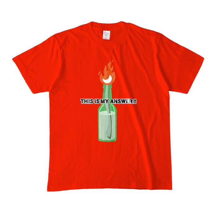 カラーTシャツ(濃色) - M - レッド
