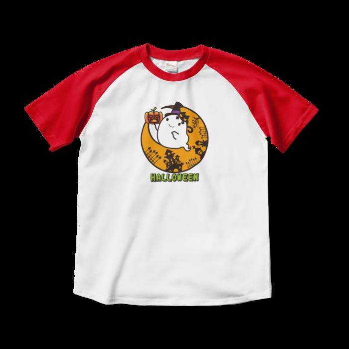 ラグランTシャツ - M - ホワイト×レッド