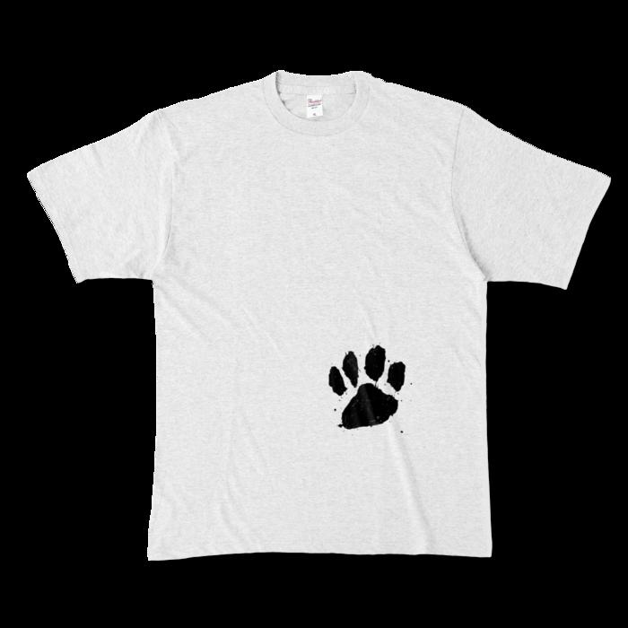 カラーTシャツ(淡色) - XL - 正面 - アッシュ