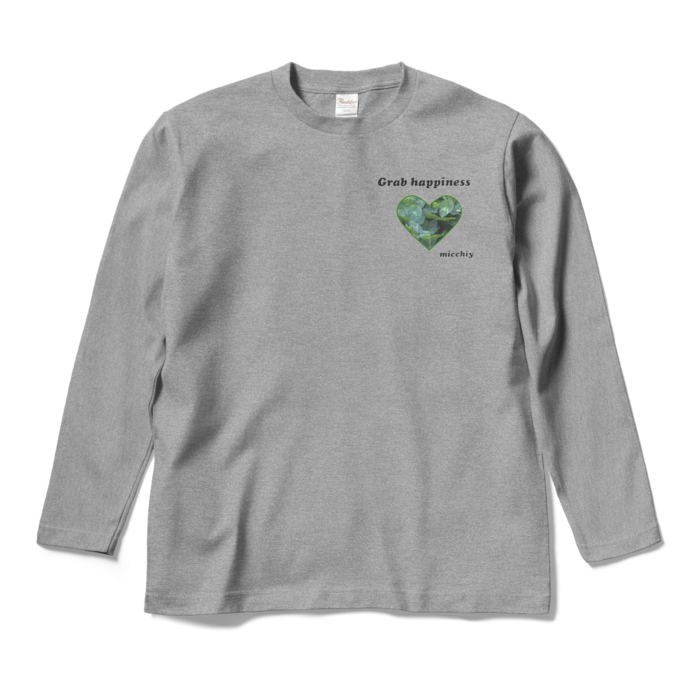 ロングスリーブTシャツ - M - 杢グレー