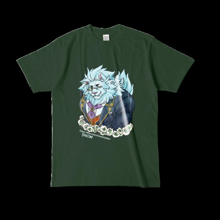 カラーTシャツ(濃色) - L - 正面 - フォレスト