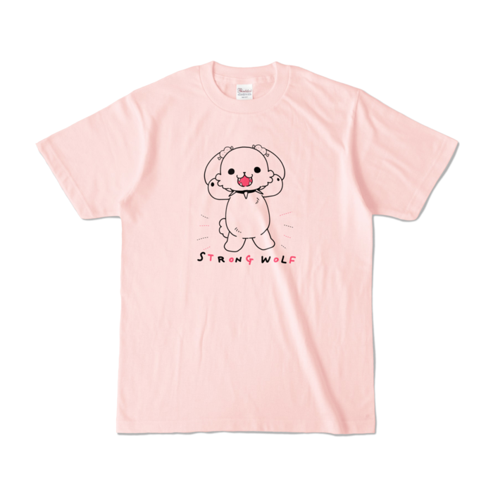 カラーTシャツ(淡色) - S - 正面 - ライトピンク