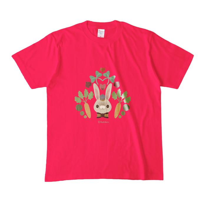 カラーTシャツ(濃色) - M - 正面 - ホットピンク