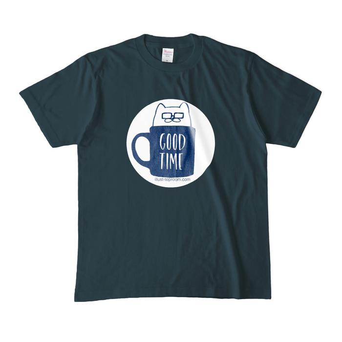 カラーTシャツ(濃色) - M - デニム