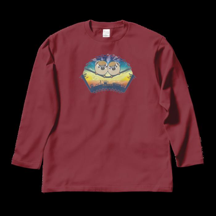 ロングスリーブTシャツ - L - バーガンディ