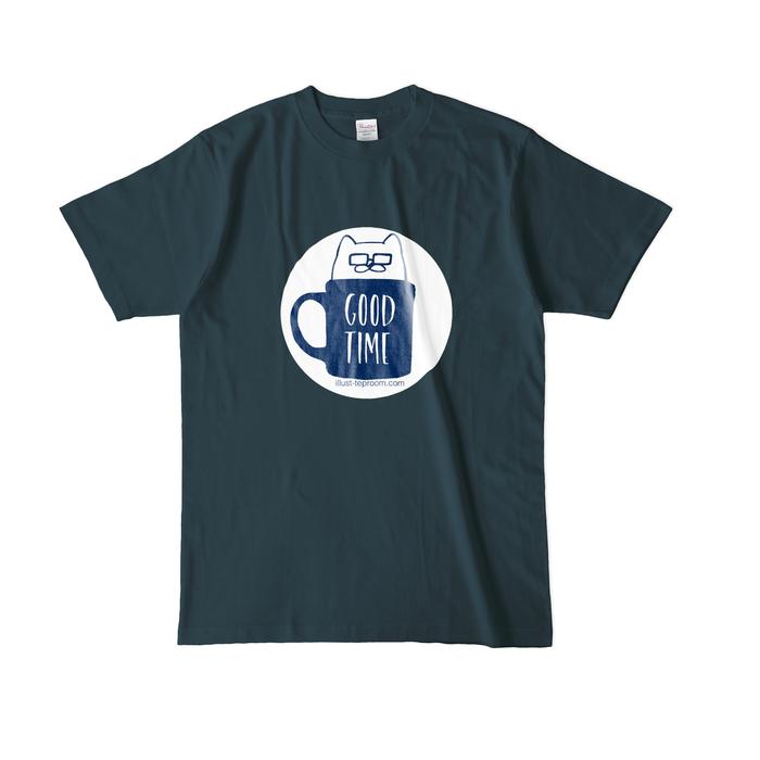 カラーTシャツ(濃色) - L - デニム