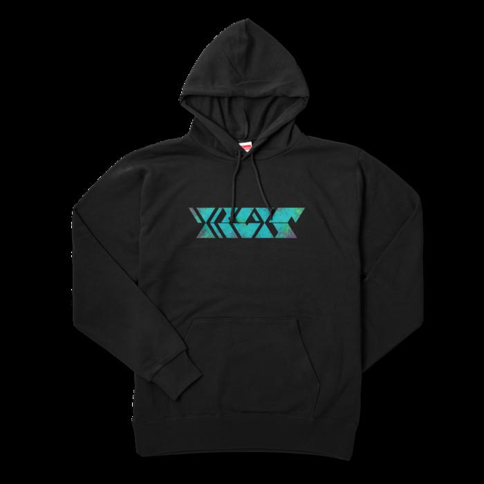 サイケグリーン - XL - ブラック