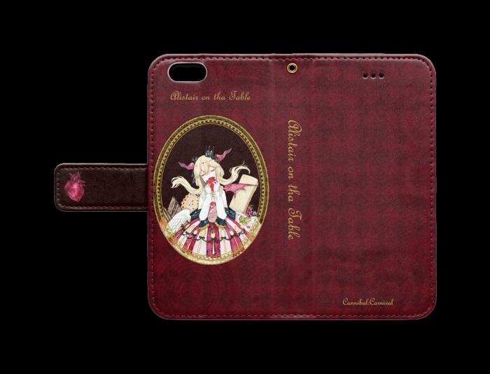 手帳型iPhoneケース - iPhone6/6s - ストラップ穴 あり