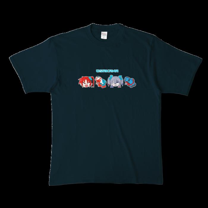 カラーTシャツ - XL - ネイビー (濃色)