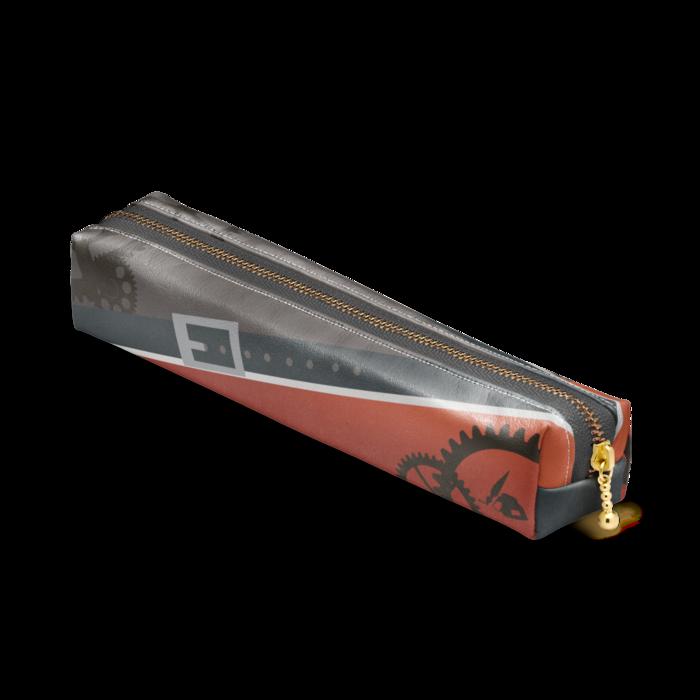 ペンケース - 20 x 4 x 4cm - ブラック