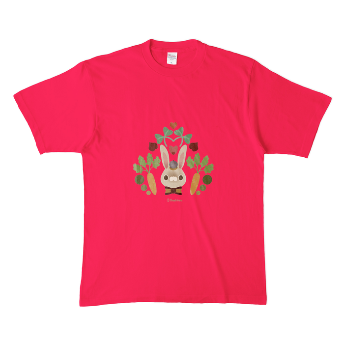 カラーTシャツ(濃色) - XL - 正面 - ホットピンク