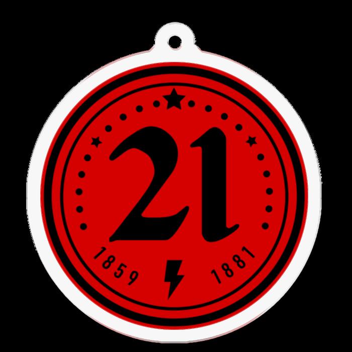 アクリルキーホルダー(赤×黒)