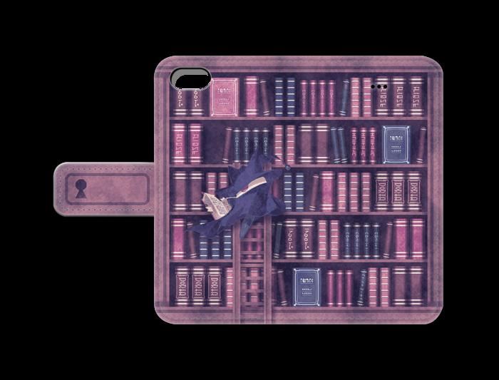 手帳型iPhoneケース(紫) - iPhone5