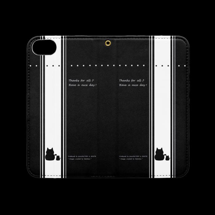 手帳型iPhoneケース(ベルトなし) - iPhone 8 / 7 - ストラップ穴 あり