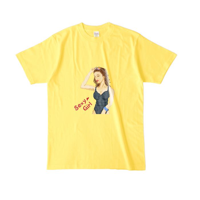 カラーTシャツ(濃色) - L - イエロー
