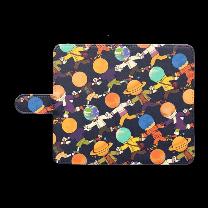 手帳型Androidケース - M - ブラック
