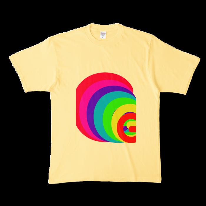 カラーTシャツ - XL - ライトイエロー (淡色)
