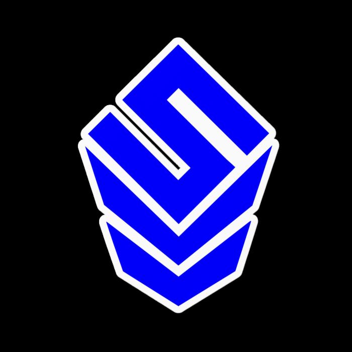 ステッカー ブルー - 100 x 100 (mm)【Blue】