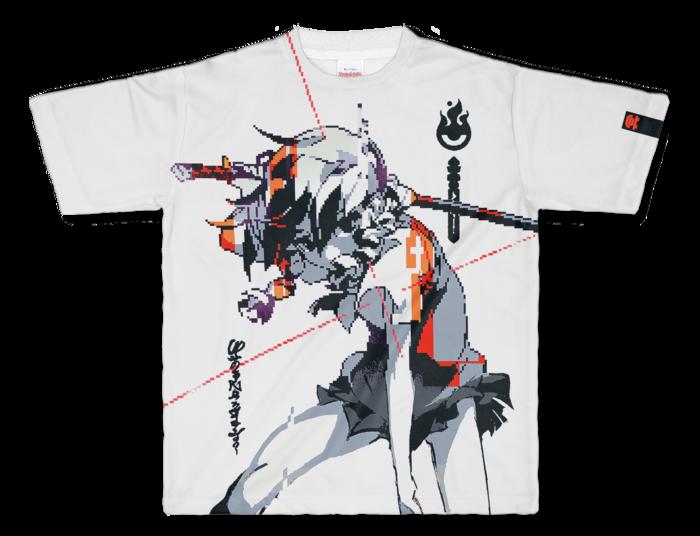 フルグラフィックTシャツ - L - 正面印刷のみ