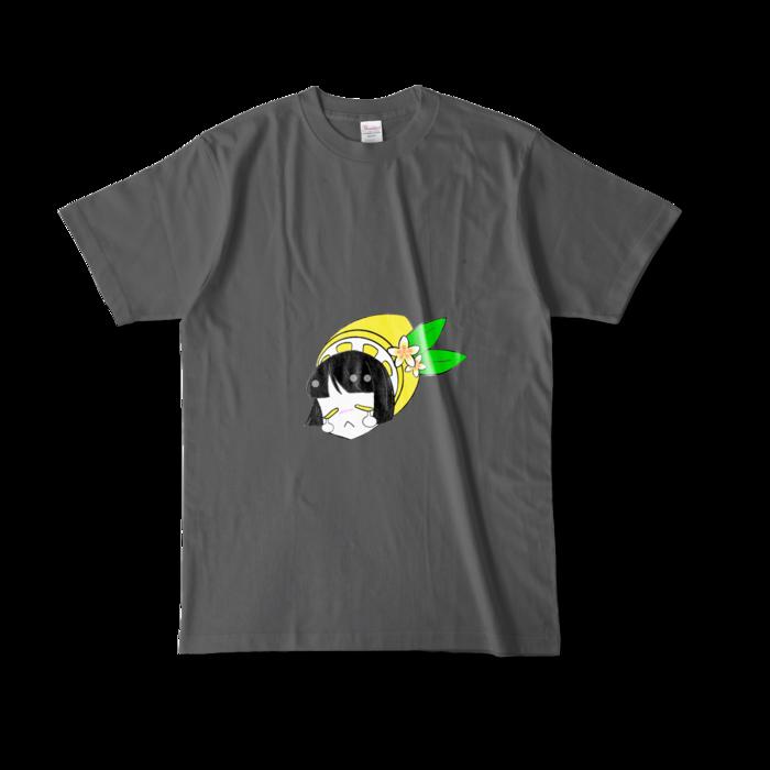 カラーTシャツ(濃色) - L - 両面 - チャコール