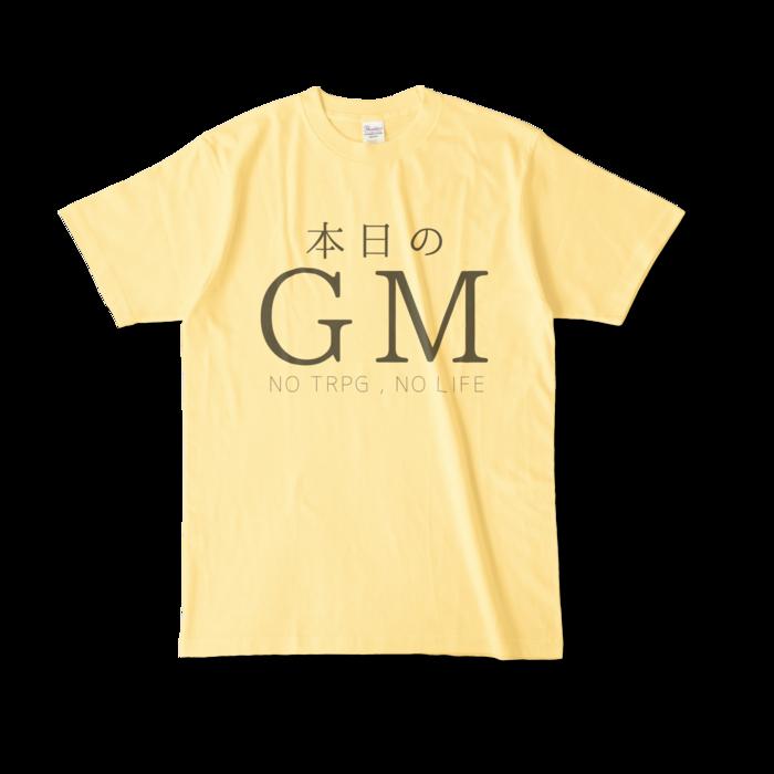 カラーTシャツ - L - ライトイエロー