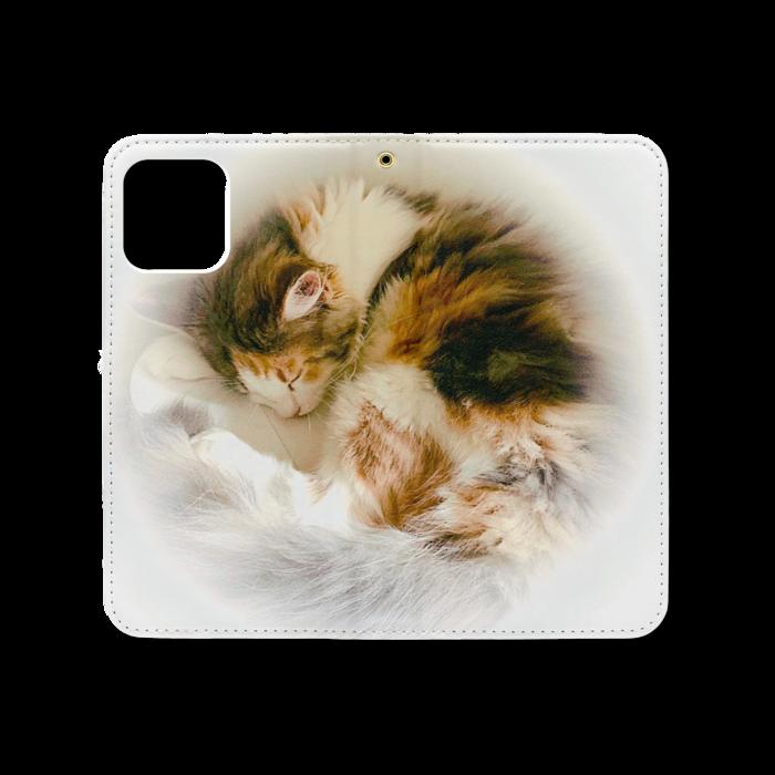 手帳型iPhoneケース(ベルトなし) - iPhone12 / 12 Pro - ストラップ穴 あり