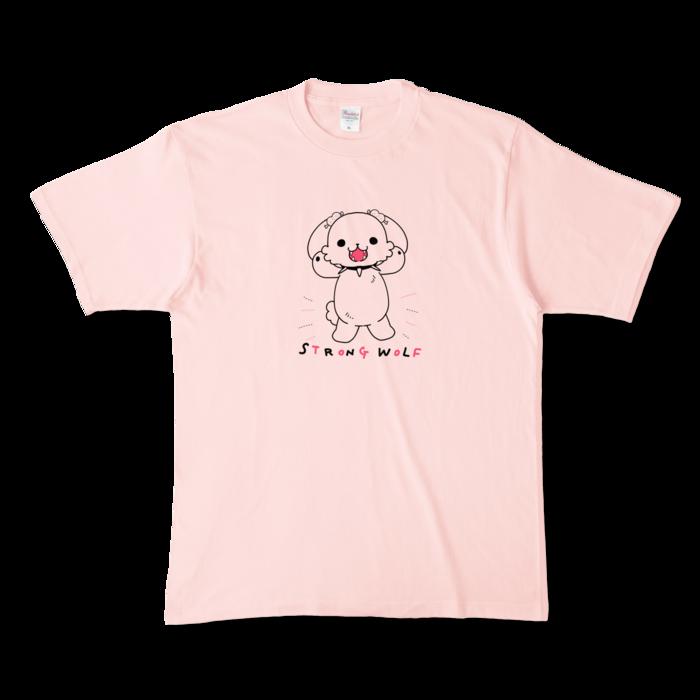 カラーTシャツ(淡色) - XL - 正面 - ライトピンク