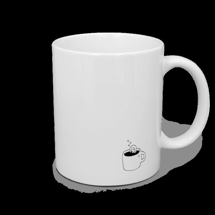 左利き用マグカップ - 直径 8 cm / 高さ 9.5 cm
