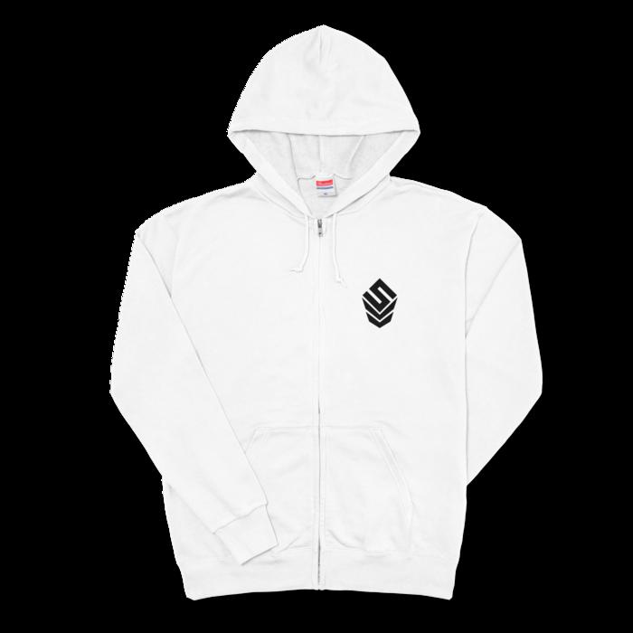 ジップパーカー - XL - 左胸【SIZE:XL - White】