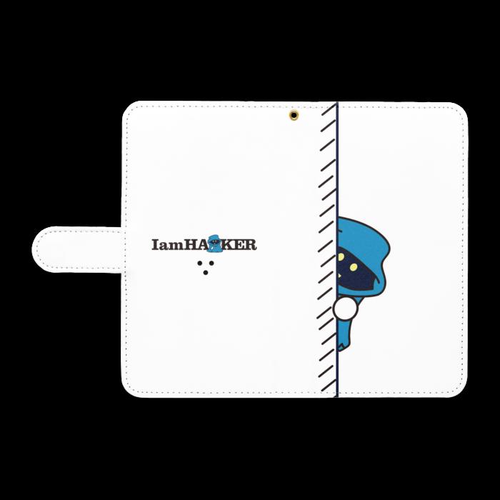 手帳型Androidケース - L - ストラップ穴 あり