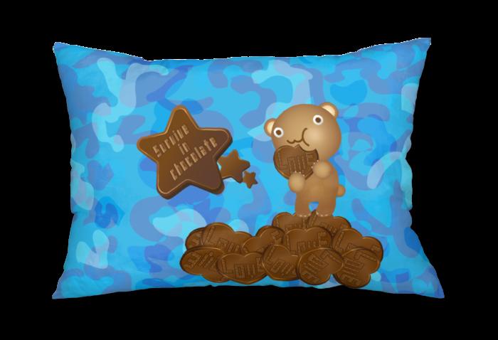 枕カバー - 43x63cm - 片面(1) 青背景